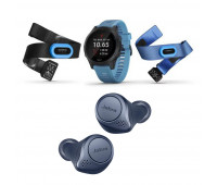 Garmin Forerunner 945 Blue Tri-Athlon Bundle With Jabra Elite Active 75t Bluetooth Earbuds