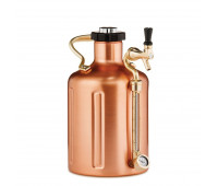 uKeg 128 Pressurized Growler for Craft Beer - Copper Plated