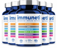 Immuneti - Advanced Immune Defense, 6-in-1 Powerful Blend of Vitamin C, Vitamin D3, Zinc, Elderberries, Garlic Bulb, Echinacea - Supports Overall Health, Provides Vital Nutrients & Antioxidants - 5 Pack