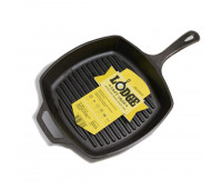 "Lodge 10.5"" Square Cast Iron Grill Pan"