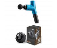 LifePro Fitness Bundle With Sonic X Personal Percussion Massage Gun - Blue +Vibrating Massage Ball