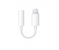 Apple - Lightning-to-3.5mm Headphone Adapter - White