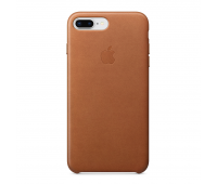 Apple - iPhone 8 Plus/7 Plus Leather Case - Saddle Brown