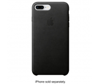 Apple - iPhone 8 Plus/7 Plus Leather Case - Black