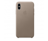 Apple - iPhoneᆴ XS Leather Case - Taupe