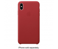 Apple - iPhoneᆴ XS Max Leather Case - (PRODUCT) RED