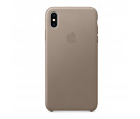 Apple - iPhoneᆴ XS Max Leather Case - Taupe