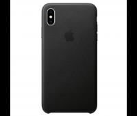 Apple - iPhoneᆴ XS Leather Case - Black