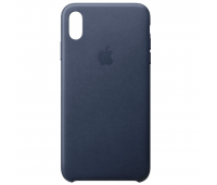 Apple - iPhoneᆴ XS Leather Case - Midnight Blue