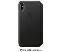 Apple - iPhoneᆴ XS Max Leather Folio - Black