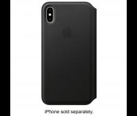 Apple - iPhoneᆴ XS Max Leather Folio - Black