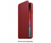 Apple - iPhoneᆴ XS Max Leather Folio - (PRODUCT)RED