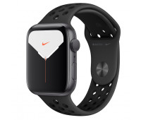 Apple - Watch Nike Series 5 GPS, 44mm Space Gray Aluminum Case with Anthracite/Black Nike Sport Band