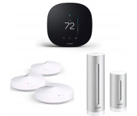 Smart Home Bundle - Netatmo Weather Station, NWS01-US + TP-Link Deco Whole Home Mesh WiFi System + ecobee3 lite Smart Thermostat, 2nd Gen, Black