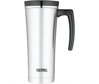 Thermos - 16oz Vacuum Insulated Travel Mug with Handle, Black