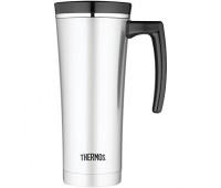 Thermos - 16oz Vacuum Insulated Travel Mug with Handle, Black