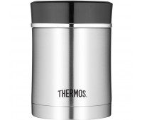 Thermos - Stainless Steel Insulated 16oz Food Jar With Lid, Black