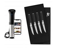 Shun Classic 4 Pc Steak Knife Set + Anova Culinary AN500-US00 Sous Vide Precision Cooker (WiFi)