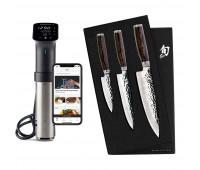 Shun Premier 3 Pc Starter Set + Anova Culinary Sous Vide Precision Cooker Pro (WiFi)