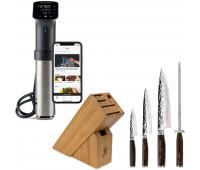 Shun Premier 5 Pc Starter Block Set + Anova Culinary Sous Vide Precision Cooker Pro (WiFi)