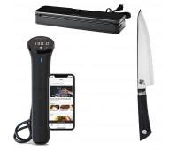 "Anova Bundle With Shun Sora Chef's 8"" + Anova Culinary Sous Vide Precision Cooker Nano + Precision Vacuum Sealer"