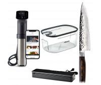 """Anova Bundle With Shun Premier Chef's 8"""" + Anova Culinary Sous Vide Precision Cooker Pro (WiFi) + Precision Vacuum Sealer + Precision Cooker Container"""