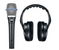 Shure BETA 87A Vocal Microphone + SRH1440 Professional Open Back Headphones Bundle