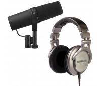 Shure SM7B Vocal Microphone + SRH940 Professional Reference Headphones