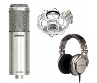Shure KSM353/ED Bi-directional ribbon microphone + A300SM ShureLock Wire Rope Shock Mount + SRH940 Professional Reference Headphones Bundle