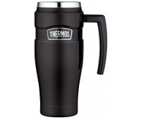 Thermos - Stainless Stainless King 16oz Travel Mug with Handle, Matte Black