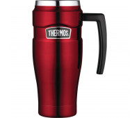 Thermos - Stainless Stainless King 16oz Travel Mug with Handle, Cranberry