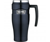 Thermos - Stainless Stainless King 16oz Travel Mug with Handle, Midnight Blue