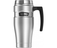 Thermos - Stainless Stainless King 16oz Travel Mug with Handle, Stainless Steel