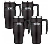 4 Thermos Stainless King 16oz Travel Mug, Matte Black