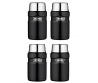 4 Thermos Stainless King 24oz Food Jar, Matte Black