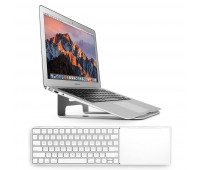 Twelve South bundle with MagicBridge Wireless Keyboard and Trackpad for Apple + ParcSlope Laptop Stand for MacBook - Silver