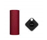 Ultimate Ears Bundle with BOOM 3 - Sunset Red + Cube Pro