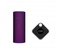 Ultimate Ears Bundle with BOOM 3 - Ultraviolet Purple + Cube Pro