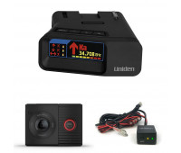 Uniden R7 Extreme Long Range Radar Detector with GPS & Threat Detection + Uniden RDA-HDWKT Radar Detector Smart Hardwire Kit with Mute Button, LED Alert and Power LED + Garmin Dash Cam Tandem