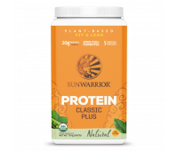 Sunwarrior - Classic Plus - Vegan Protein Powder with Peas & Brown Rice, Raw Organic Plant Based Protein (30, Natural)
