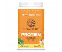 Sunwarrior - Classic Plus - Vegan Protein Powder with Peas & Brown Rice, Raw Organic Plant Based Protein (30, Vanilla)