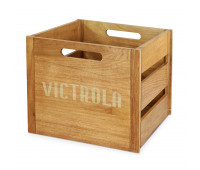 Vintage Wooden Record Crate