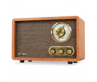 Victrola Vintage Bluetooth Wood AM/FM Radio with Rotary Dial