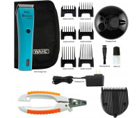 Wahl Professional Animal Bravura Pet, Dog, Cat, and Horse Corded / Cordless Clipper Kit, Turquoise + Wahl Professional Animal 5-in-1 Diamond Blade + Wahl Pet Nail Clipper