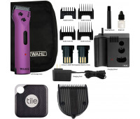 Wahl +Tile Bundle - Wahl Professional Animal Arco Pet, Dog, Cat, and Horse Cordless Clipper Kit - Purple + Wahl Professional Animal 5-in-1 Diamond Blade + Tile Pro Smart Tracker
